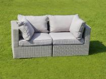 Sofa z technorattanu LIGURITO Off-WHITE Elite & Taupe