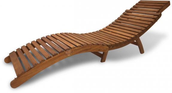 Leżak ogrodowy drewniany rozkładany
