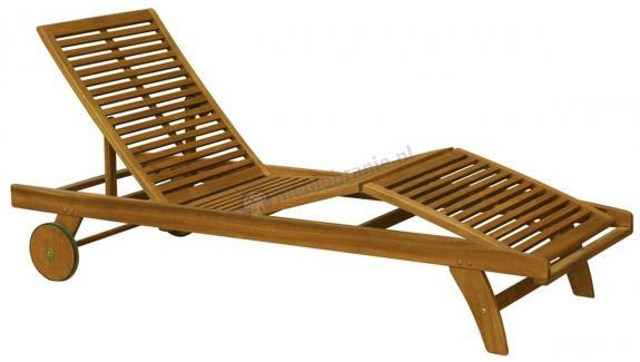 Drewniany leżak na kółkach