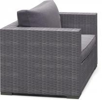 Fotel technorattanowy NILAMITO Grey & Grey