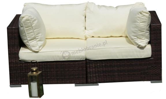 Sofa technorattan modułowa 164cm z poduszkami