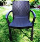 Grafitowe krzesło Bali Mono