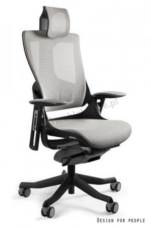 Fotel gabinetowy z regulowanymi podłokietnikami WAU 2 - czarny