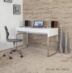 Białe biurko z szufladami Bora