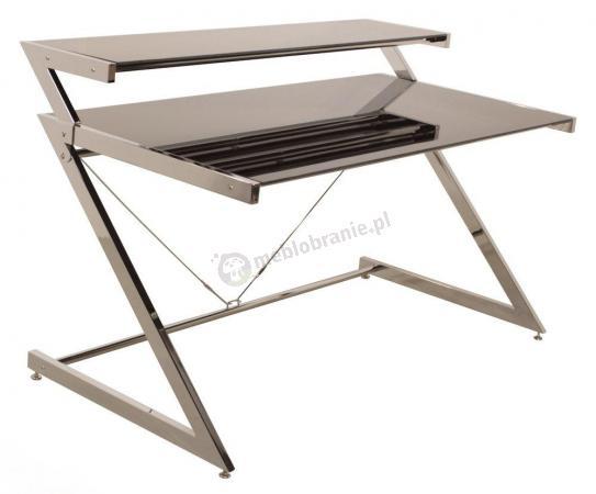 Duże biurko z nadstawką Z-line czarne