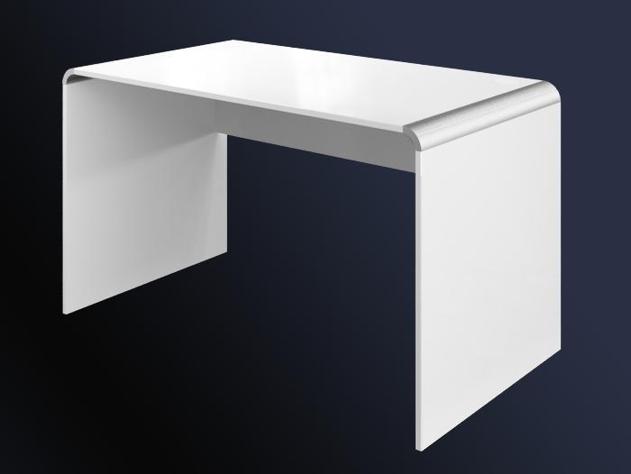 Białe Biurko W Połysku Murano 130