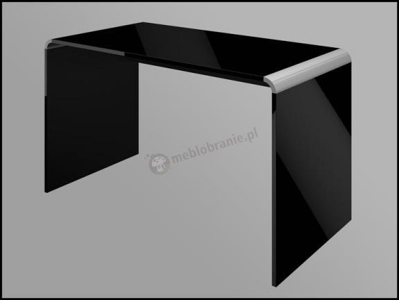 Czarne biurko na wysoki połysk Murano