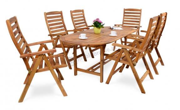 Składane meble ogrodowe drewniane Kennedy