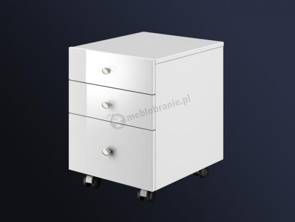 Biały kontenerek pod biurko Murano