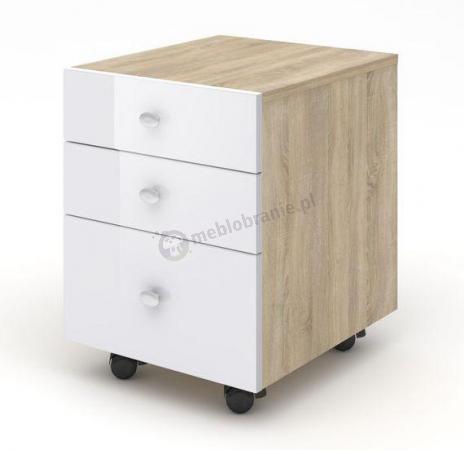 Kontenerek biurowy z szufladami dąb sonoma Murano