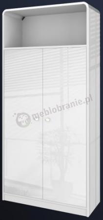Szafa biurkowa biała na wysoki połysk Murano
