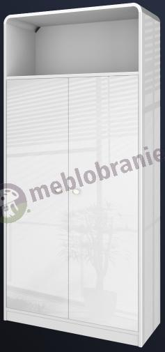 Szafa biurowa biała wysoki połysk Murano