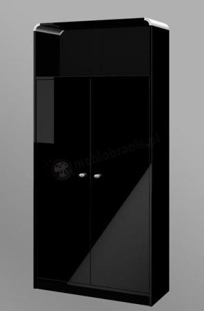Czarna szafa biurowa z drzwiami Murano