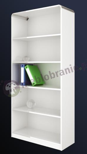Regał biurowy otwarty Murano biały połysk