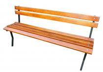 Ławka stalowo-drewniana 150cm