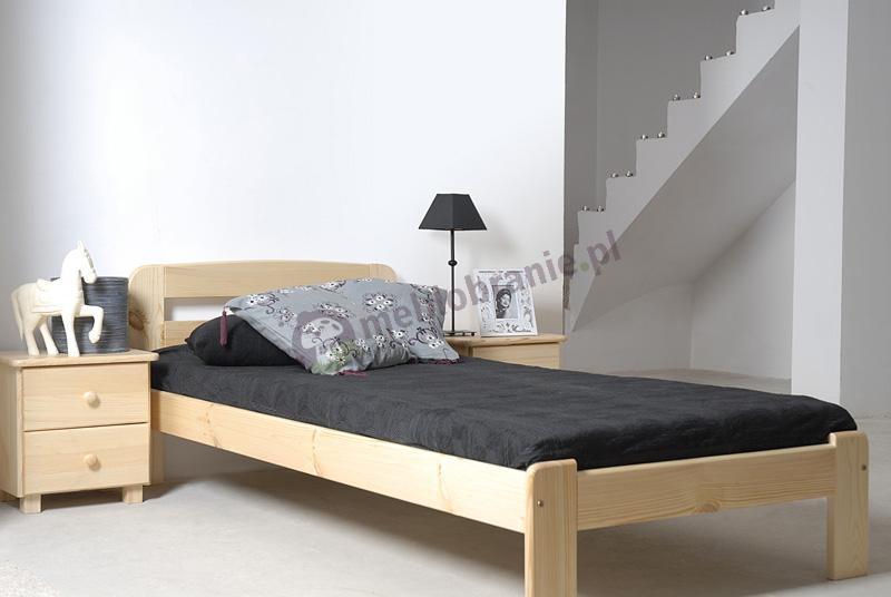 Łóżko pojedyncze drewniane Saranda