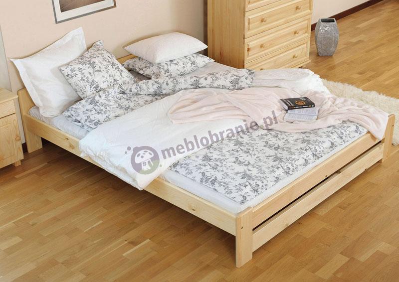 Łóżko 140x200 cm z drewna sosnowego Viva