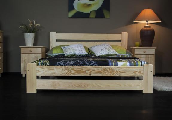 Łóżko sosnowe do sypialni Kreta
