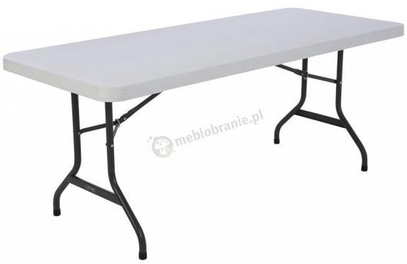 Stół cateringowy rozkładany 183 cm biały granit