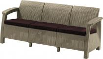 Sofa ogrodowa Corfu Love Seat Max - piaskowa