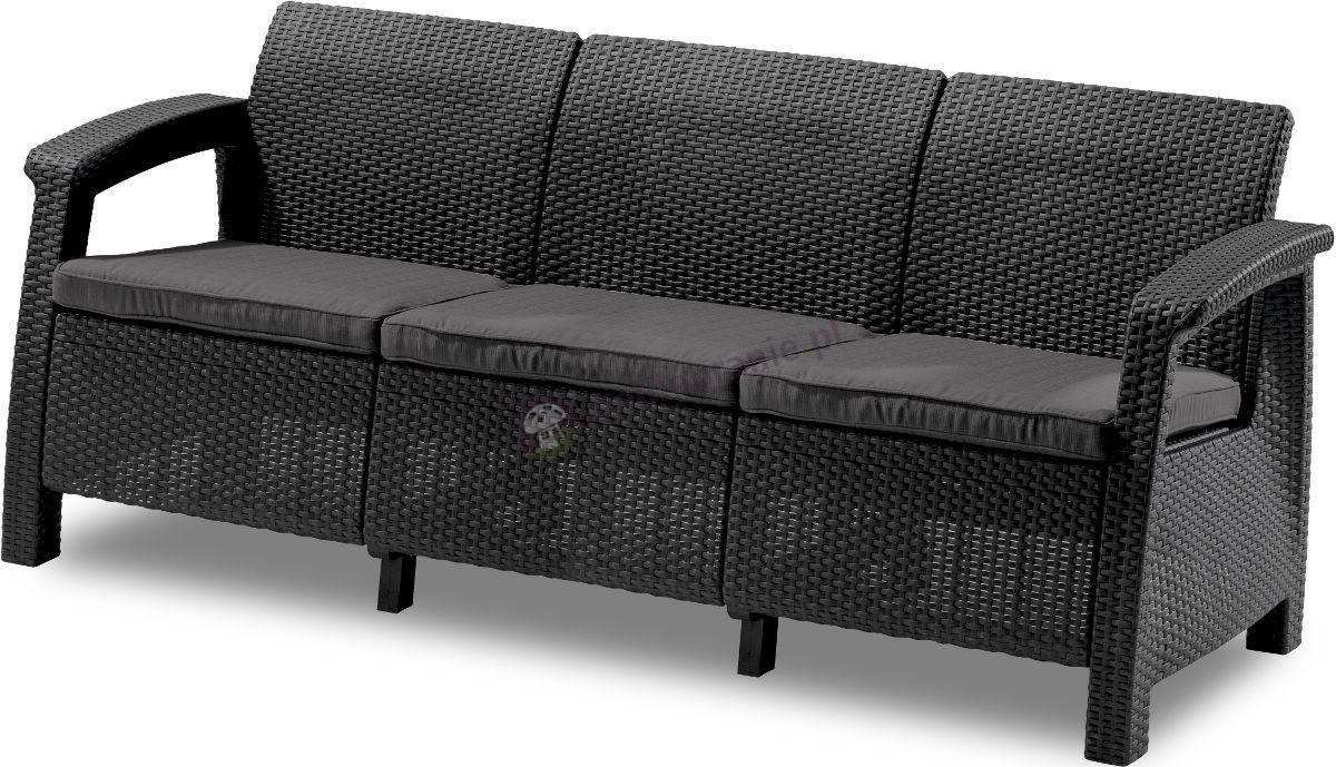 Sofa ogrodowa Corfu Love Seat Max - grafitowa