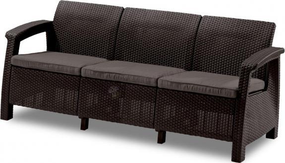 Sofa 3 osobowa Corfu Love Seat Max - brązowa