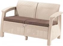 Sofa ogrodowa Corfu Love Seat - piaskowa