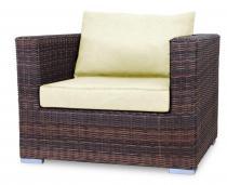 Fotel z technorattanu LIGURITO Brown Elite & Ecru
