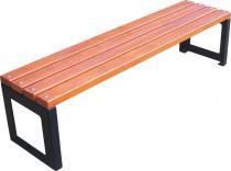 Nowoczesna ławka stalowa z drewnianym siedziskiem STADIO I