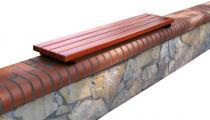 Siedzisko drewniane na ławkę, murek