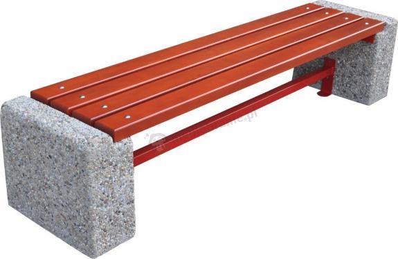 Ławka z betonu bez oparcia BERLIN I