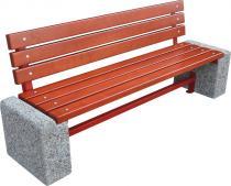 Ławka z betonu z oparciem BERLIN II