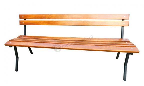 Ławka drewniano-stalowa