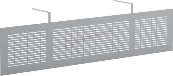Osłona biurka w kolorze aluminium Svenbox CUR15