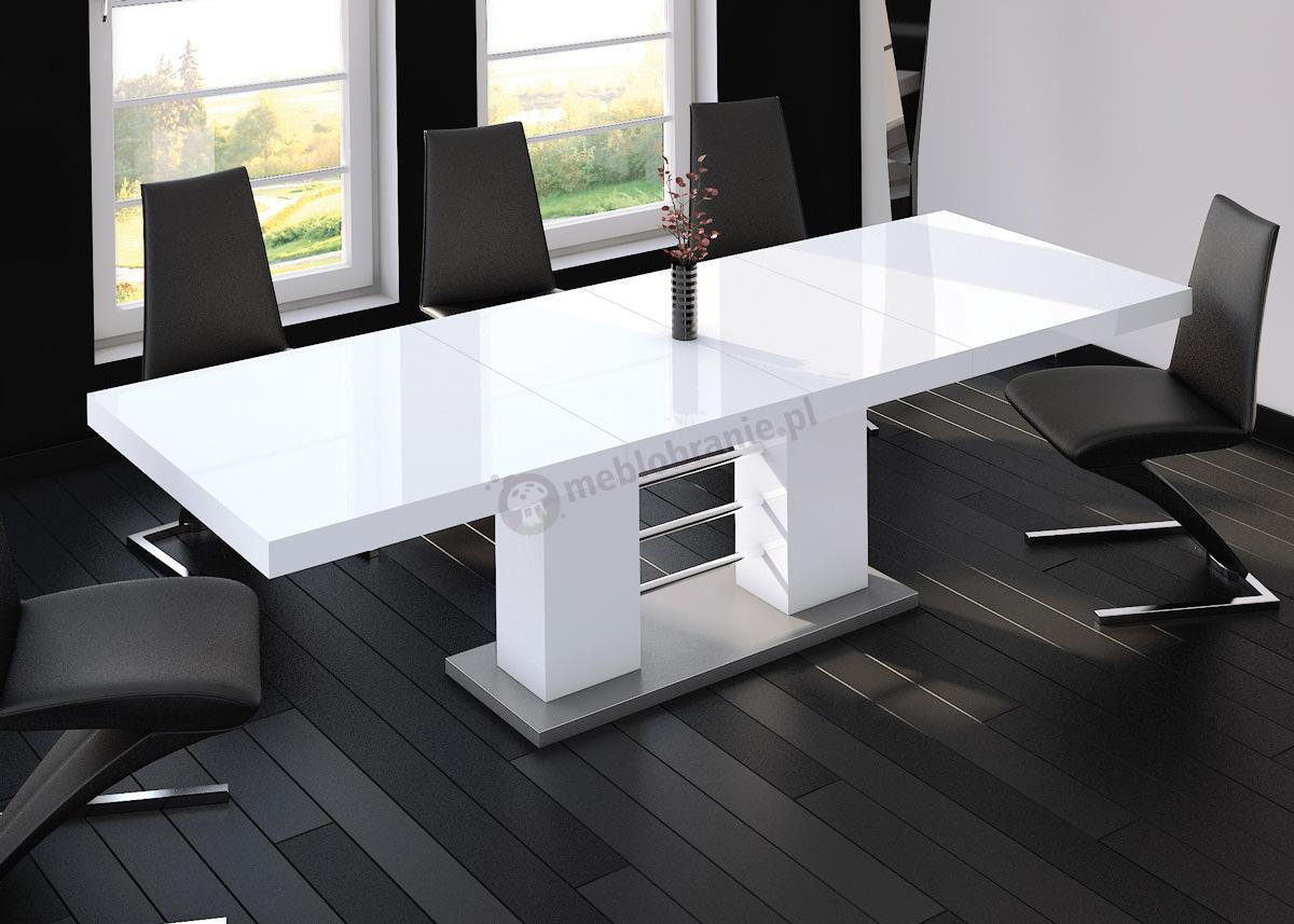 Hubertus stół rozkładany Linosa wysoki połysk