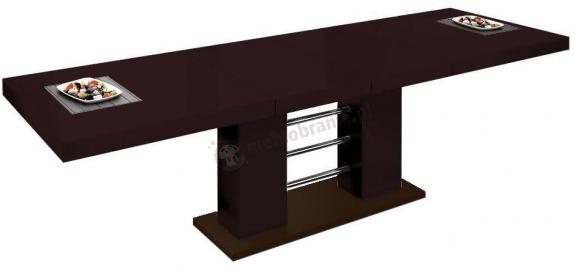 Stół Linosa 2 - Brązowy połysk
