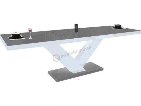 Stół Victoria wysoki połysk - szary-biały-szary