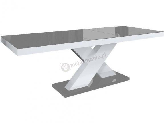 Stół Xenon wysoki połysk - szary-biały-szary