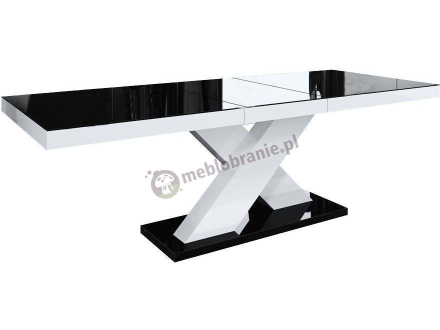 Stół Xenon wysoki połysk - czarny-biały-czarny