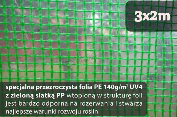 Folia na tunel metalowy 3x2m