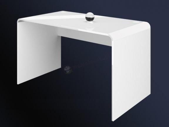 Biurko manicure do salonu kosmetycznego 130 cm biały połysk