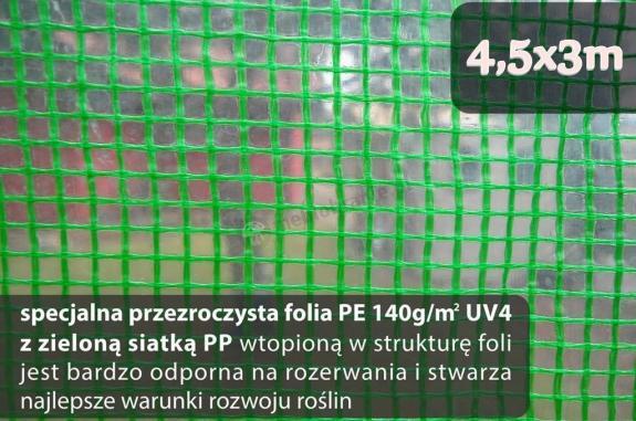 Folia na tunel metalowy 4,5x3m