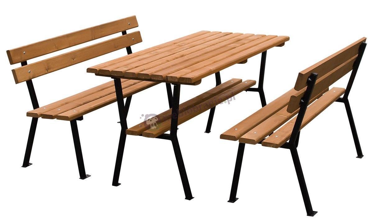 Meble ogrodowe drewniane stalowe Nelia 150cm