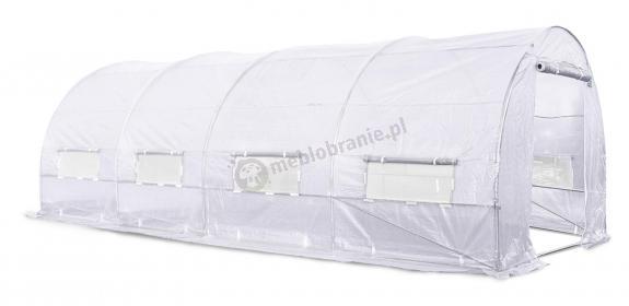 Tunel foliowy konstrukcja metalowa 6*3m - biała siatka