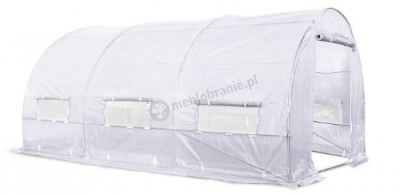 Tunel foliowy 4,5*3m - biała siatka wzmacniajaca