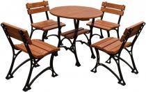 Stoły do restauracji z krzesłami Restor 80cm - meble żeliwne