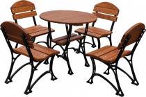 Stoły żeliwne do restauracji z krzesłami Restor Deluxe 80cm
