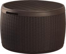 Circa Stolik ze skrzynią Rattan Style brązowy Curver 140L
