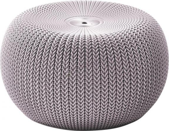 Pufa Knit Seat - stołek fioletowy