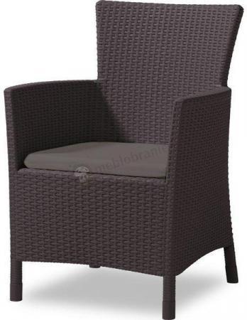 Fotel Rattan Style Iowa - brązowy